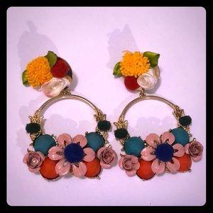 H&M Floral Earrings